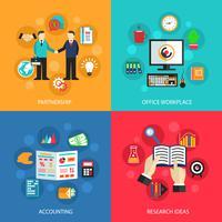 Concepto de trabajo de oficina de negocios