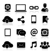 Social Media Icons schwarz