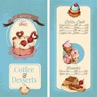 Modèle de menu de desserts