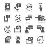 Kontakta oss service ikoner