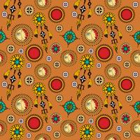 Tribal seamless background vector