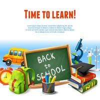 Back to school border vector