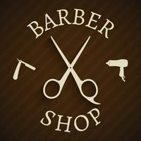 Hairdresser barber shop poster vector