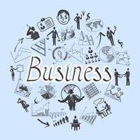 Composición de negocios de croquis