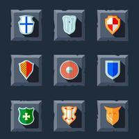 Shield icon flat