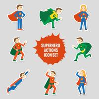 Set van superhelden stickers