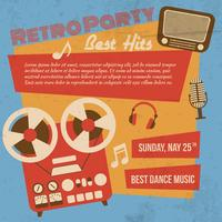 Retro party poster