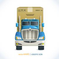 Logistic icon truck
