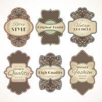 Conjunto de etiquetas de la vendimia