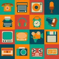 Conjunto de gadgets vintage
