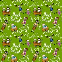 Seamless background with kids vector