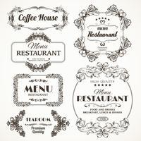 Floral restaurant frames