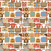 Vintage gadget seamless pattern vector