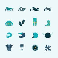 Set di icone del motociclista