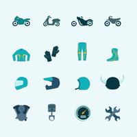 Jeu d'icônes de motard