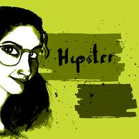 Mädchen Tinte Hipster