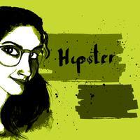 Hipster de tinta de menina