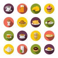 Frukost ikon platt