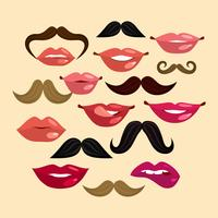 Lips and Mustaches