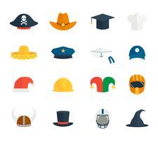 Ensemble de chapeau d'icônes