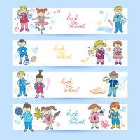 Conjunto de banners con niños.