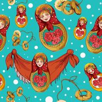 Matryoshka seamless pattern