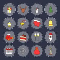 Conjunto de ícones de Natal