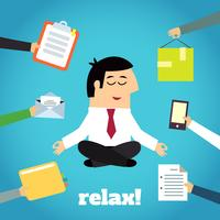 Affärsman Yoga Relaxing