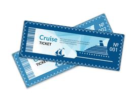 Ship cruise tickets vector