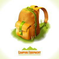 Camping symbol backpack