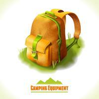 Camping symbol backpack