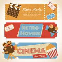 Banners de filmes retrô