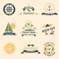 Summer sea retro labels