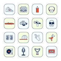 Conjunto de iconos de la música rap