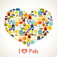 Conceito de cuidados de animais de estimação
