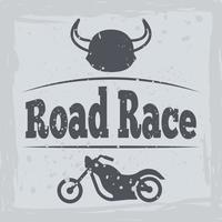 Cartel de la motocicleta