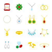Smycken ikon platt
