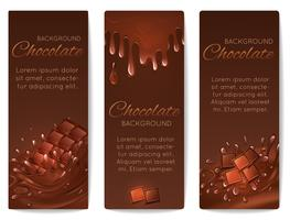 Chocolade spatten banners