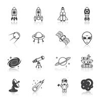 Space Line Icons gesetzt