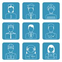 Professional avatar icons set