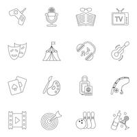 Entertainments icons outline