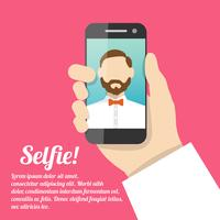 Selfie self portrait poster