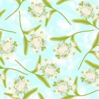 Linden seamless pattern