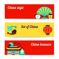 Conjunto de banners de China vector