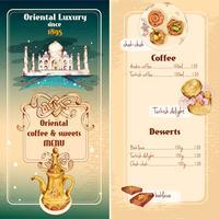 Menu di dolci orientali