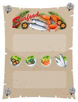 Banner template with fresh seafood vector