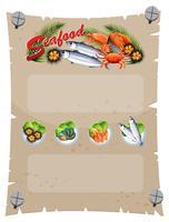 Modello di banner con pesce fresco