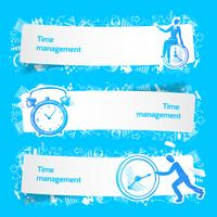 Time management set banners sketch