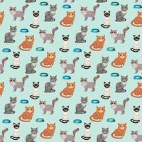Katter sömlösa mönster