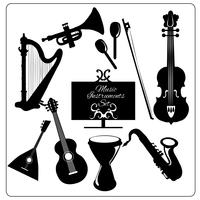 Muziekinstrumenten zwart